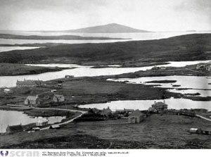 Fig. H2.2.  Distant view of Pabaigh, Harris, from above An t-Ob (Valentine Collection, JV-A7772[A] Courtesy of the University of St Andrews Library) - click for a larger image