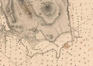 Fig. H2.6. 1857 Admiralty Chart, showing the southern half of Pabaigh (Chart 2642, courtesy of The Trustees of the National Library of Scotland) - click for a larger image