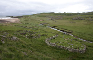 Fig. H9.8. Kilmory, from the south-west, with the graveyard in the foreground (J Hooper)