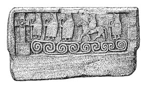 S9.3 Drawing of Shrine-panel (RCAHMS) - click for a larger image